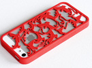 Birds Silhouette iPhone5/5s Case in Red Strong & Flexible Polished
