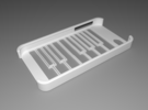 iPhone 4/4S Piano Case in White Strong & Flexible