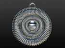 Hypnotizing Pendant (size L) in Polished Silver