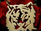 NODE - Tiger Pendant - in Polished Gold Steel
