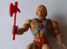 MOTU replacement ax for 1980s Castle Grayskull in Red Strong & Flexible Polished