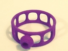 Wired Button Ring in Purple Strong & Flexible Polished