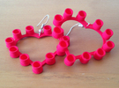 Pop Cap Heart Earrings (Small) in Red Strong & Flexible Polished