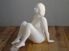 Seated nude model in White Strong & Flexible