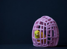 The Easter Chick - a - Dee (Light Pink) in Full Color Sandstone