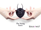 The Young Fawn Mini Faux Taxidermy in Black Strong & Flexible