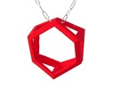 Trapezoid Ring Pendant in Red Strong & Flexible Polished