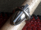 Cross Ring - Size 9 (18.95 mm) in Polished Silver