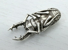 Large Silver Stag Beetle in Polished Silver