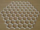 honeycomb lattice in White Strong & Flexible