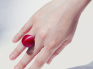 OneBall Ring in White Strong & Flexible Polished