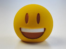 3D Emoji The Grin in Full Color Sandstone