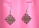 Earrings Mandala in Stainless Steel