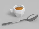 Poly Espresso 2 in White Strong & Flexible Polished