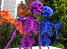 Mr Bones -- Articulated Skeleton in White Strong & Flexible Polished
