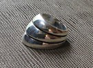 Armor Ring - Size 12 1/2 (21.79 mm) in Polished Silver