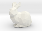 Low Poly Bunny Solid in White Strong & Flexible