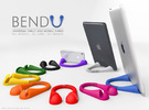 BendU - Universal Mobile Stand in White Strong & Flexible