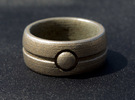 One Bead Ring - Size 23 in Stainless Steel