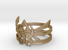 Triforce ring - Zelda - large sizes (23 to 27) in Polished Gold Steel