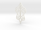 :Baby Lace: Pendant in White Strong & Flexible Polished