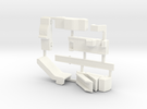 Airport GSE 1:400 Set 5 : Stair, Laugage Truck & D in White Strong & Flexible Polished