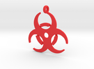Biohazard necklace charm (simple) in Red Strong & Flexible Polished