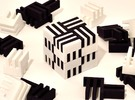 Puzzle Cube, Positive, (white) pieces in White Strong & Flexible