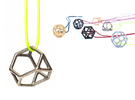 Polyhedral Jewelry: Truncated Tetrahedron in Stainless Steel