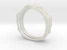 Spider Ring -v3 (size 14-ish in Steel) in White Strong & Flexible