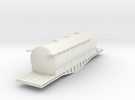 N Scale Irish Bogie Cement Tank in White Strong & Flexible