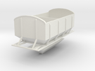 (SHORT)CIE Ballast Hopper OO Gauge in White Strong & Flexible