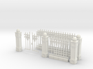 Iron Fence Kit #1 in White Strong & Flexible