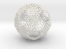 Snowflake #6 Ball Ornament in White Strong & Flexible