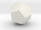 dodecahedron-l in White Strong & Flexible
