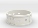 Courtney Pacman Ring in White Strong & Flexible