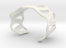 sinuous bracelet 43 in White Strong & Flexible