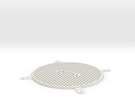 Personalized Fan Grill 120mm in White Strong & Flexible