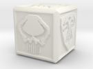 Sword and Skull Dice 2 in White Strong & Flexible