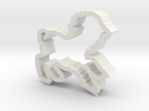 Lamb shaped cookie cutter in White Strong & Flexible