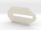 Universal Ring Dial 2 (Central Bar part) in White Acrylic