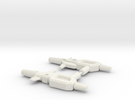 Kup Pistols (pair) in White Strong & Flexible