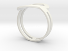 Customized fashion Ring 1 in White Strong & Flexible