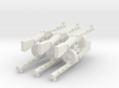 Psh41 gun wwII for lego 6 parts in White Strong & Flexible