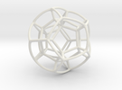 Double Bubble Dodecahedron in White Strong & Flexible