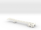 Z Scale Intermodal Trailer Chassis in White Strong & Flexible Polished