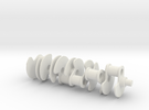 [W12 1:5 Scale Engine] Crankshaft in White Strong & Flexible