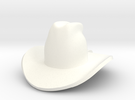 cowboy hat in White Strong & Flexible Polished