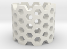 Honeycomb Ring in White Strong & Flexible