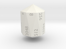 Crystal Shaped doubling d16 in White Strong & Flexible